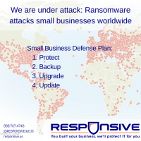 Small Business Ransomware Attack - WannaCry Outbreak Map