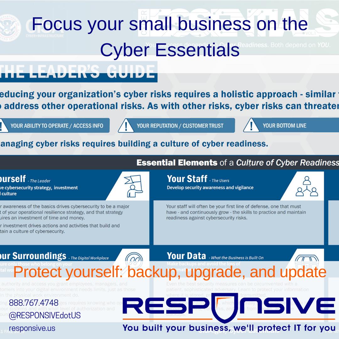 CISA Cyber Essentials
